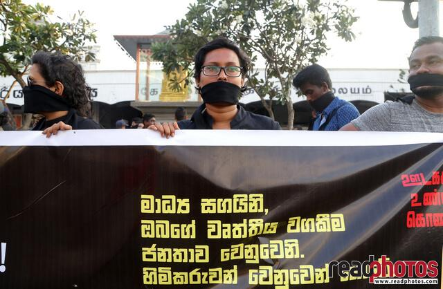 Protest against unethical media, Colombo, Sri Lanka (4)