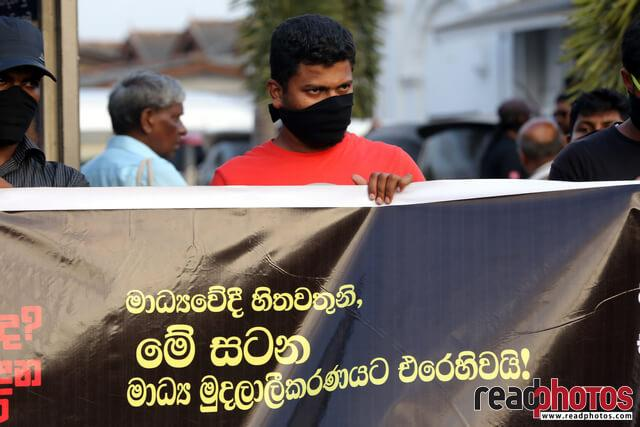 Protest against unethical media, Colombo, Sri Lanka (8)