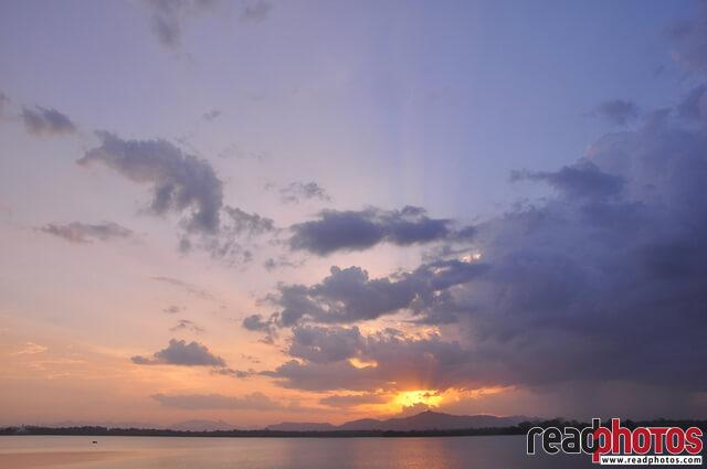 Sunset view on a lake, Sri Lanka (1)