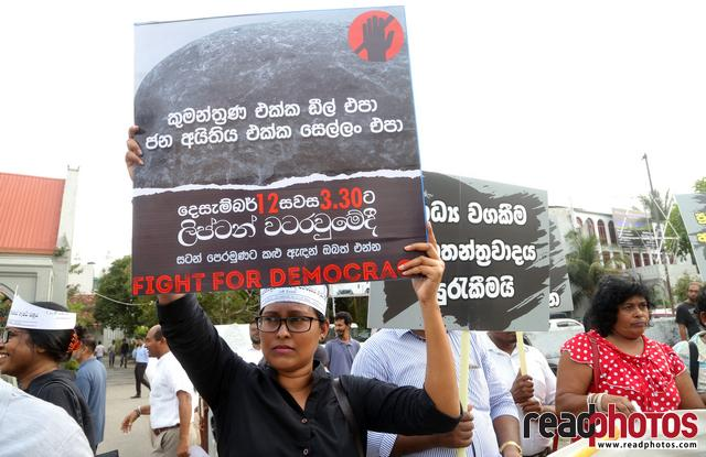 Civil society activist protest, Sri Lanka, 2018 (7) - Read Photos