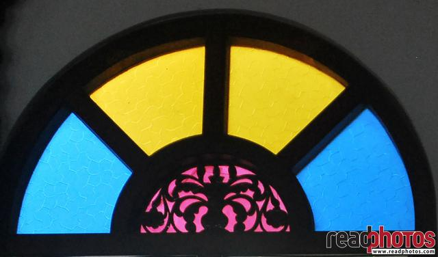 Colorful glassed window, Sri Lanka