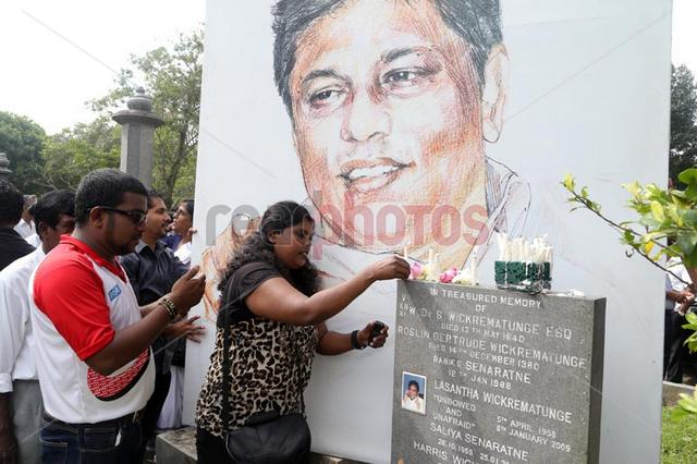 Lasantha Wickramathunga Memorial - Read Photos