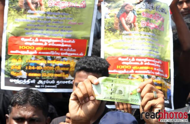 Protest against low wages, Sri Lanka