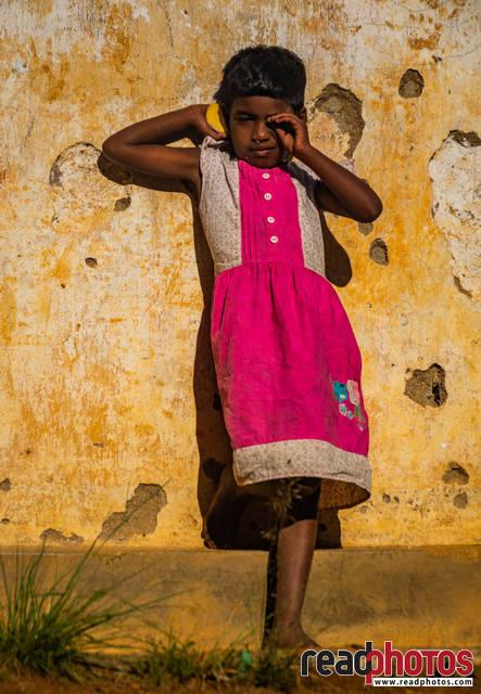 Little girl, evening capture, Sri Lanka