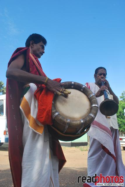 Two men play traditional music, Sri Lanka