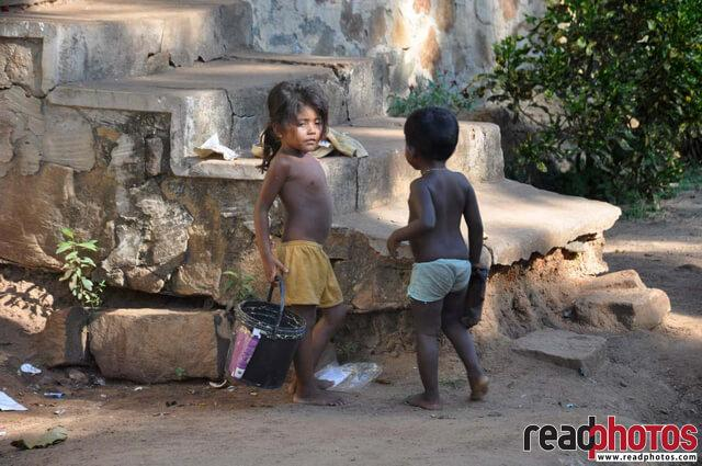 Gypsy children, Sri Lanka