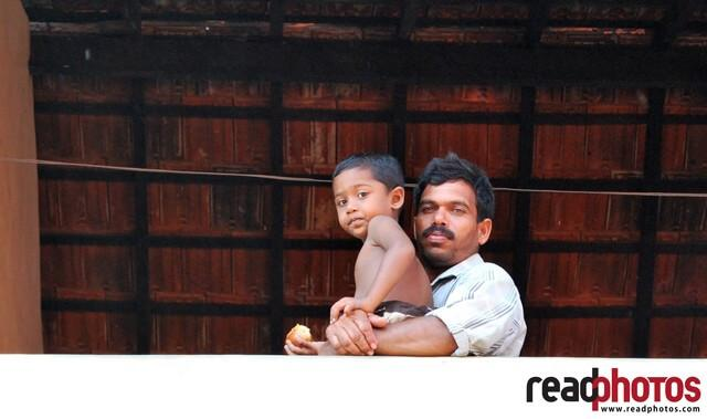 Father and child, Mannar Madu, Sri Lanka