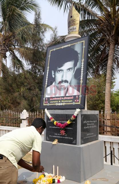 Jaffna journalist Nimalarajan memorial (2),