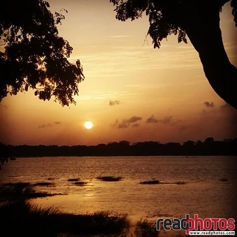 Sunset in a lake, Auradhapura, Mobile capture, Sri Lanka