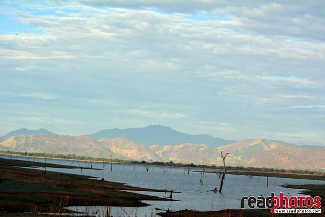 Lake and mountain range, Sri Lanka