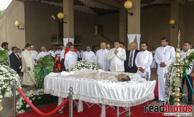 Late PM D.M. Jayaratne funeral