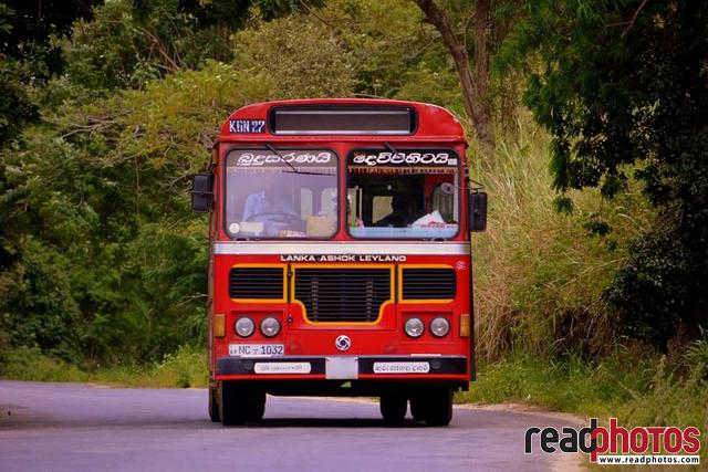 Traveling government bus, Sri Lanka