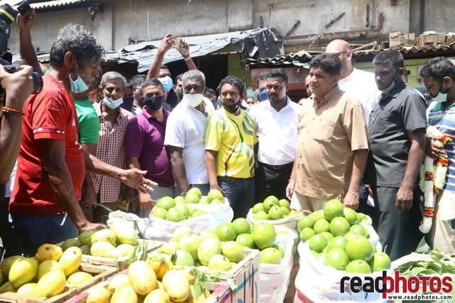 SJB election campaign - Sajith Premadasa at Manning Market on 29/07/2020