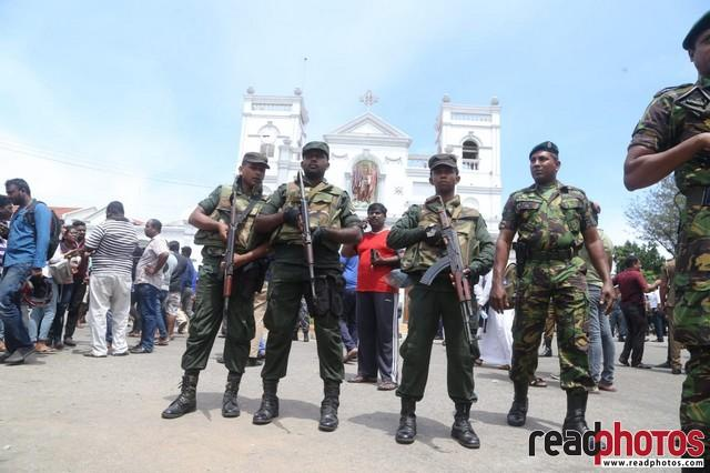 Aftermath of the bomb blast in Kochchi kade church, Sri Lanka 2019 (2) - Read Photos