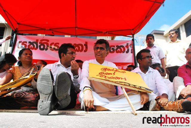 Ministers in a protest, Sri Lanka