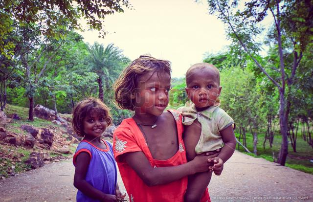 Indian little family