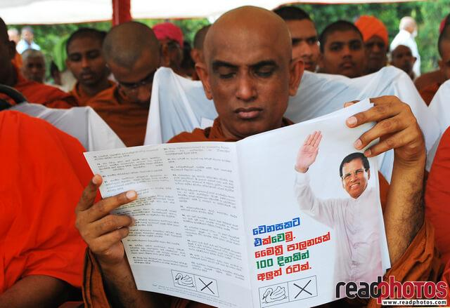 Presidential election common candidate, Manifesto, 2015, Sri Lanka  - Read Photos