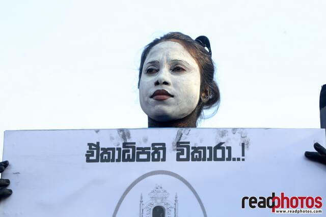 No more executive presidency– protest in Colombo Fort, Sri Lanka (4)