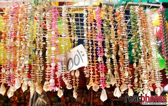 Necklaces made with sea shells, Sri Lanka (2)