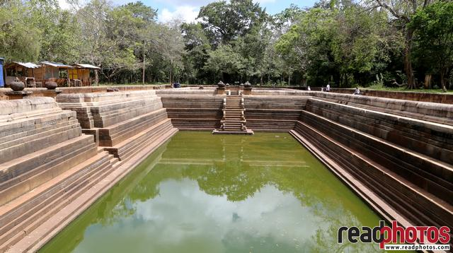 Ancient swimming pool, Anuradhapura, Sri Lanka
