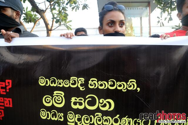 Protest against unethical media, Colombo, Sri Lanka (2)