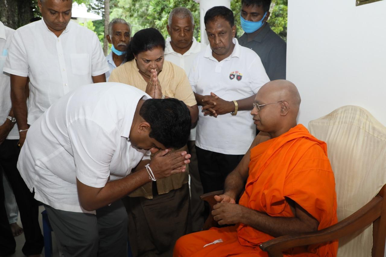 Sajith Premadasa receives religious blessings - 10..08.2020