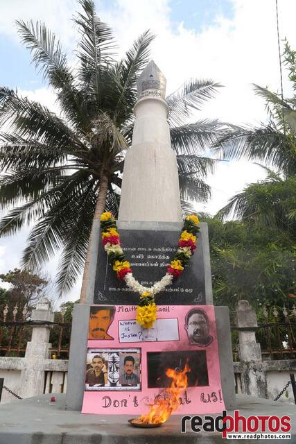 Journalist memorial event, Jaffna, Sri Lanka