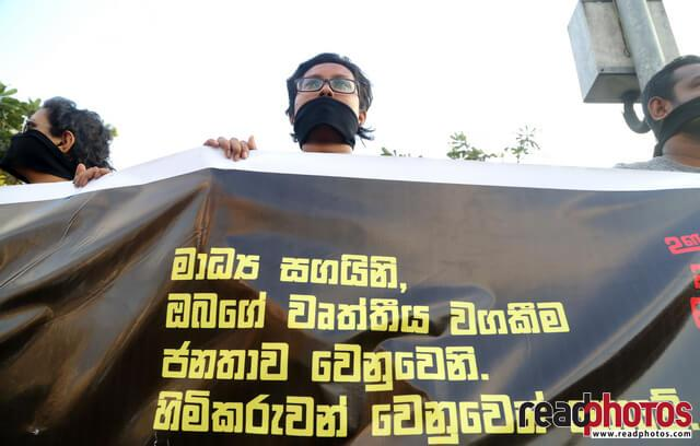 Protest against unethical media, Colombo, Sri Lanka (7)
