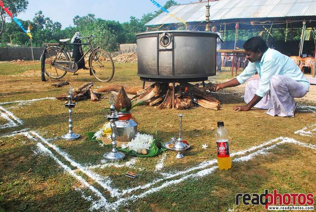 Preparing hindu food, Sri lanka