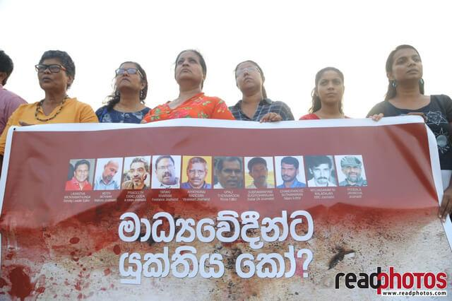Journalist memorial event, Viharamahadevi park, Sri Lanka 2019 - Read Photos