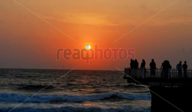 Sunset in Gall-face, Colombo, Sri Lanka
