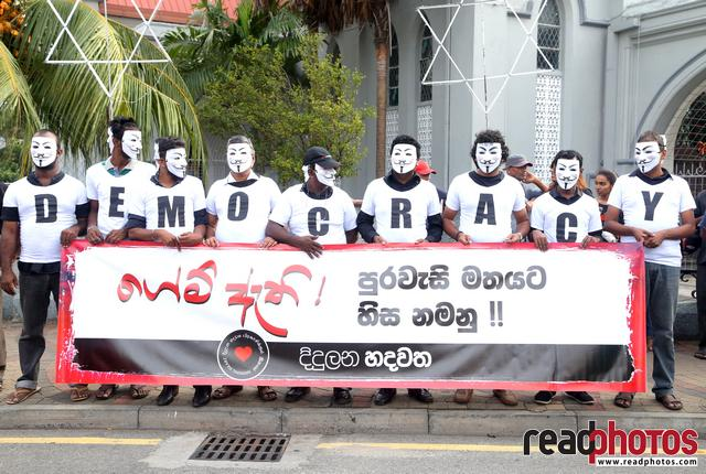 Civil society activist protest, Sri Lanka, 2018 (4) - Read Photos