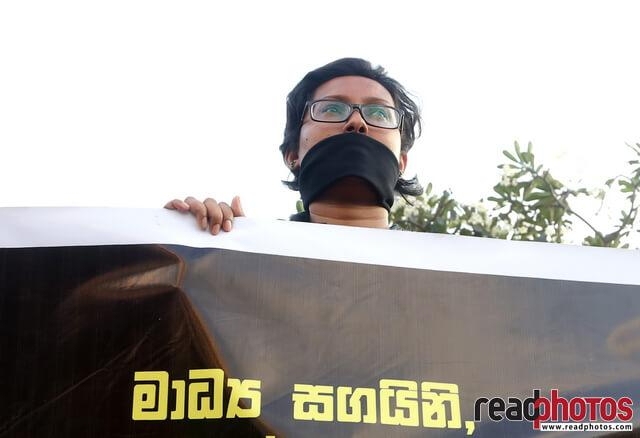 Protest against unethical media, Colombo, Sri Lanka (5)