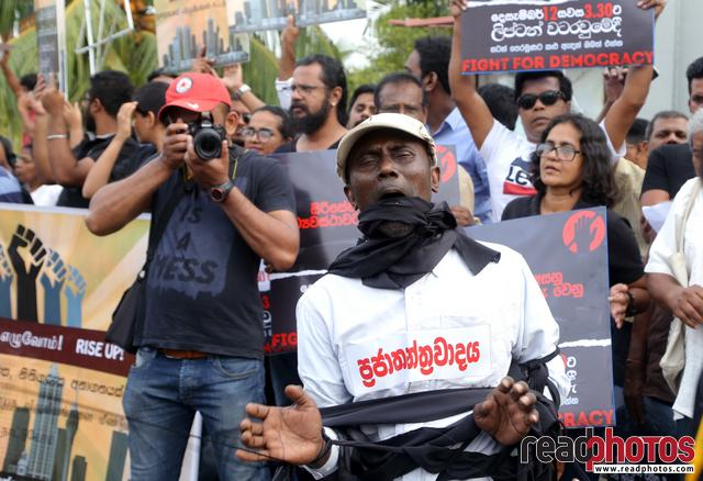 Civil society activist protest, Sri Lanka, 2018 (10)