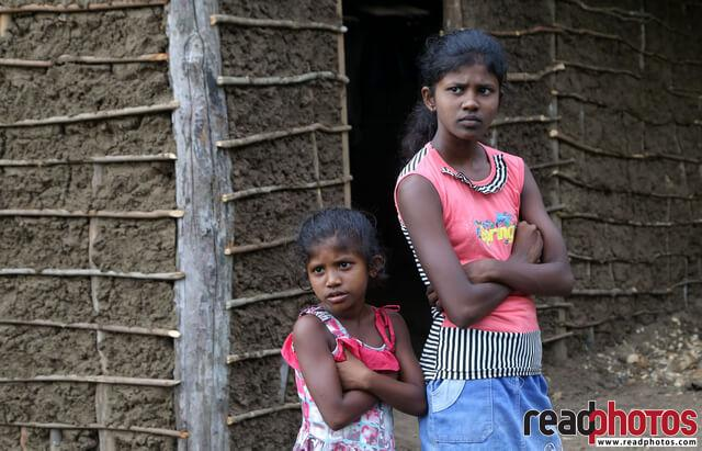 Two sisters waiting, Sri Lanka