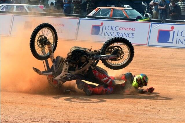 Crashed bike, motor cross, Sri Lanka