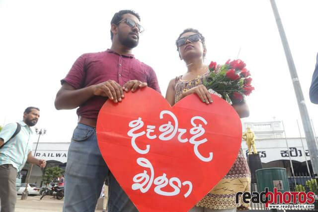No need of dowry for the love, Protest (2)
