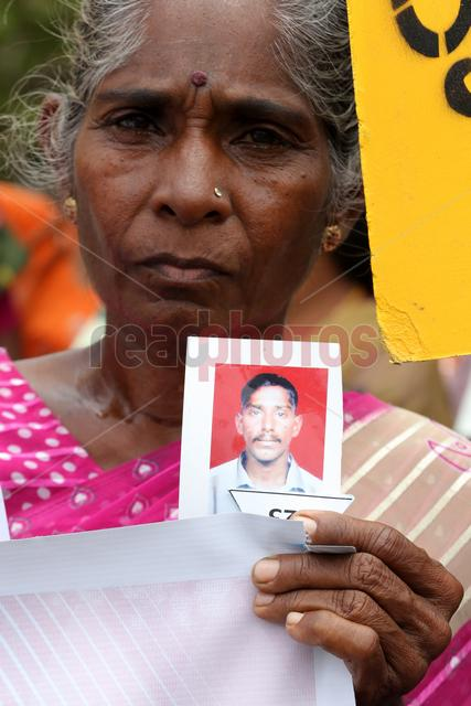 Protest for missing people in Sri Lanka, colombo