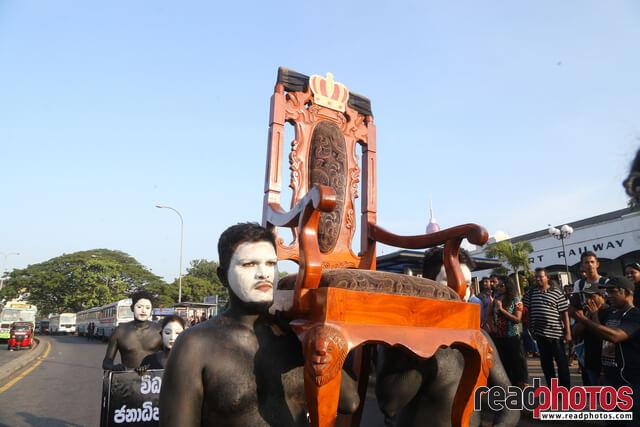 No more executive presidency – protest in Colombo Fort (2)  - Read Photos
