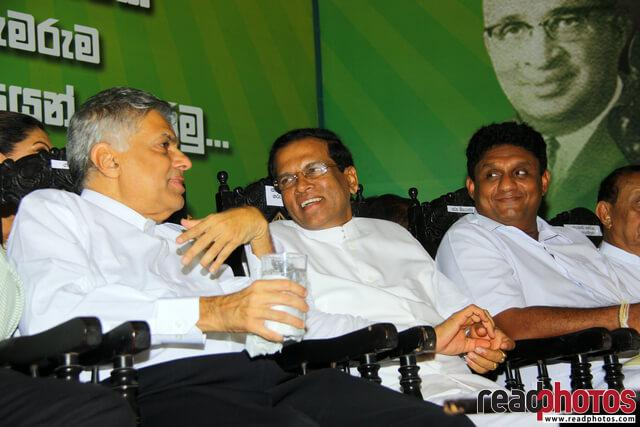 Sri Lanka Presidential election, Common candidate first appearance in UNP headquarters, 2014 (1)  - Read Photos