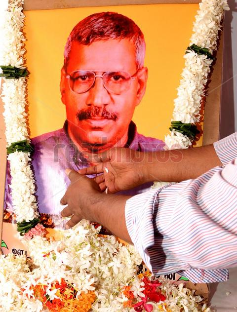 Anniversary of the assassination of veteran Tamil journalist Aiyathurai Nadesan in Batticaloa