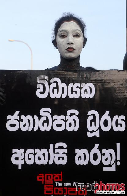 No more executive presidency– protest in Colombo Fort, Sri Lanka (12)
