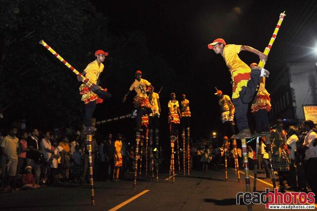 Stilt walkers, in a cultural event, Sri Lanka - Read Photos