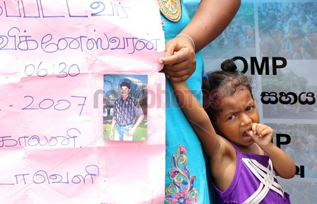Protest for missing people in Colombo, Sri Lanka(2)