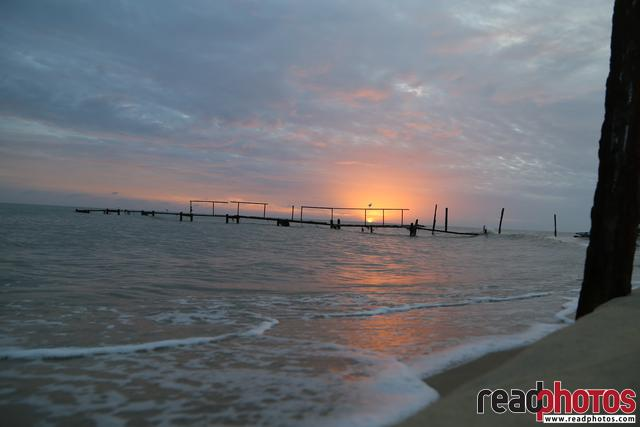 Sunset, beach, Welwetithurei, Sri Lanka - Read Photos