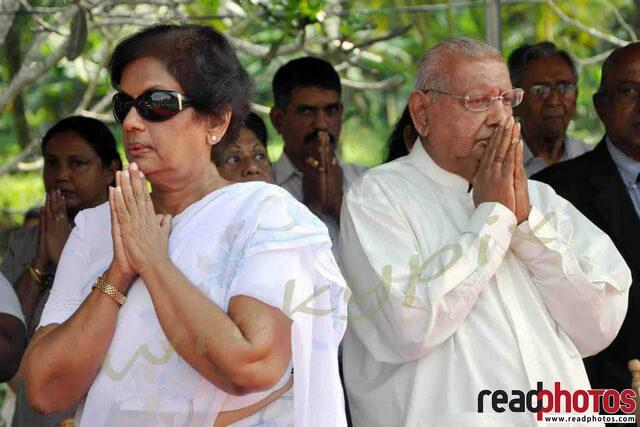 Former President and Prime minister, Sri Lanka - Read Photos