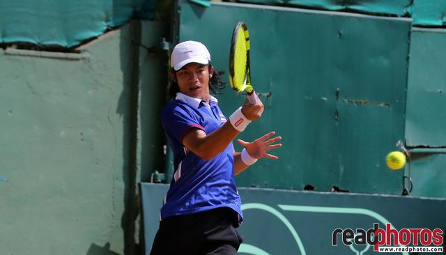Thailand Tennis player in action, Sri Lanka