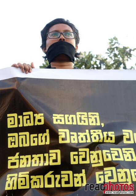 Protest against unethical media, Colombo, Sri Lanka (6)