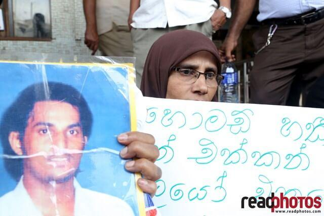 Protest for missing people in Colombo, Sri Lanka (3)