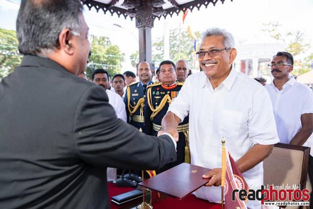 Gotabaya Rajapaksa takes oath as President